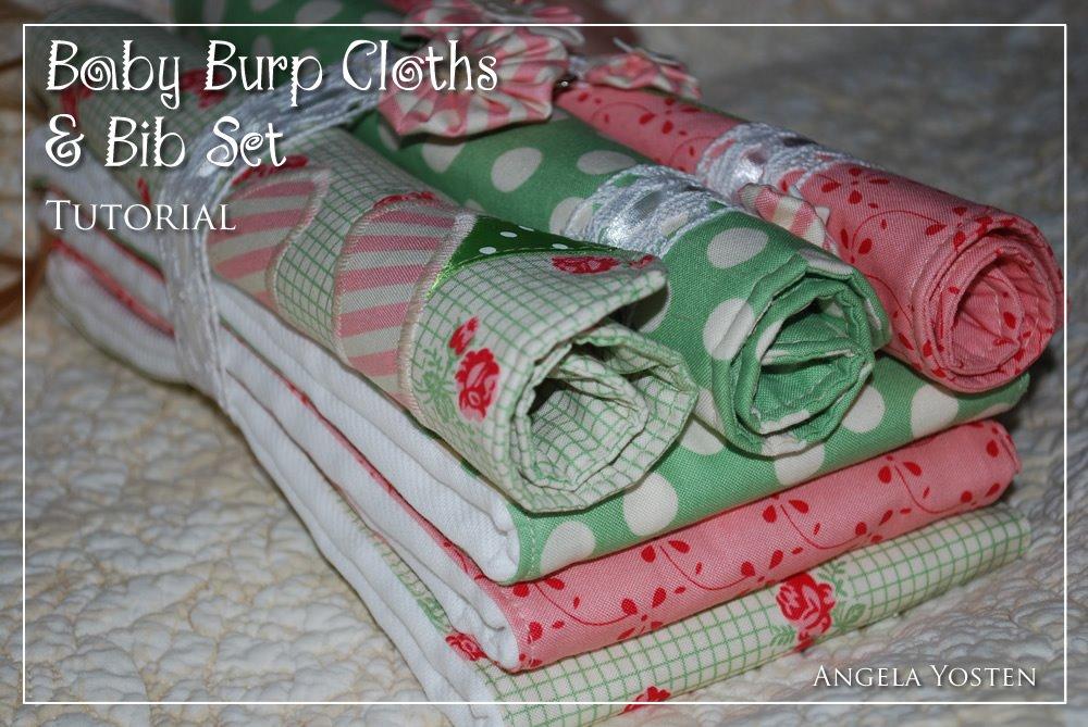 Baby Burp Cloths Bib Set Moda Bake Shop
