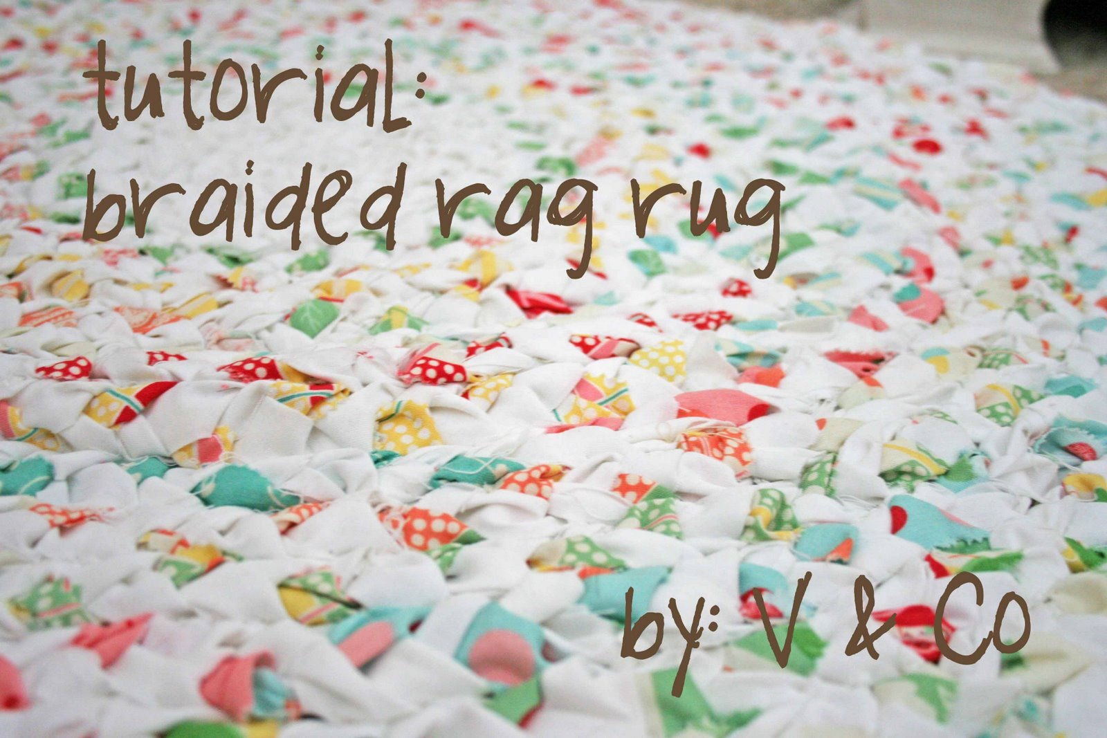 Please Click Here For Kits Available To Make This Rag Rug