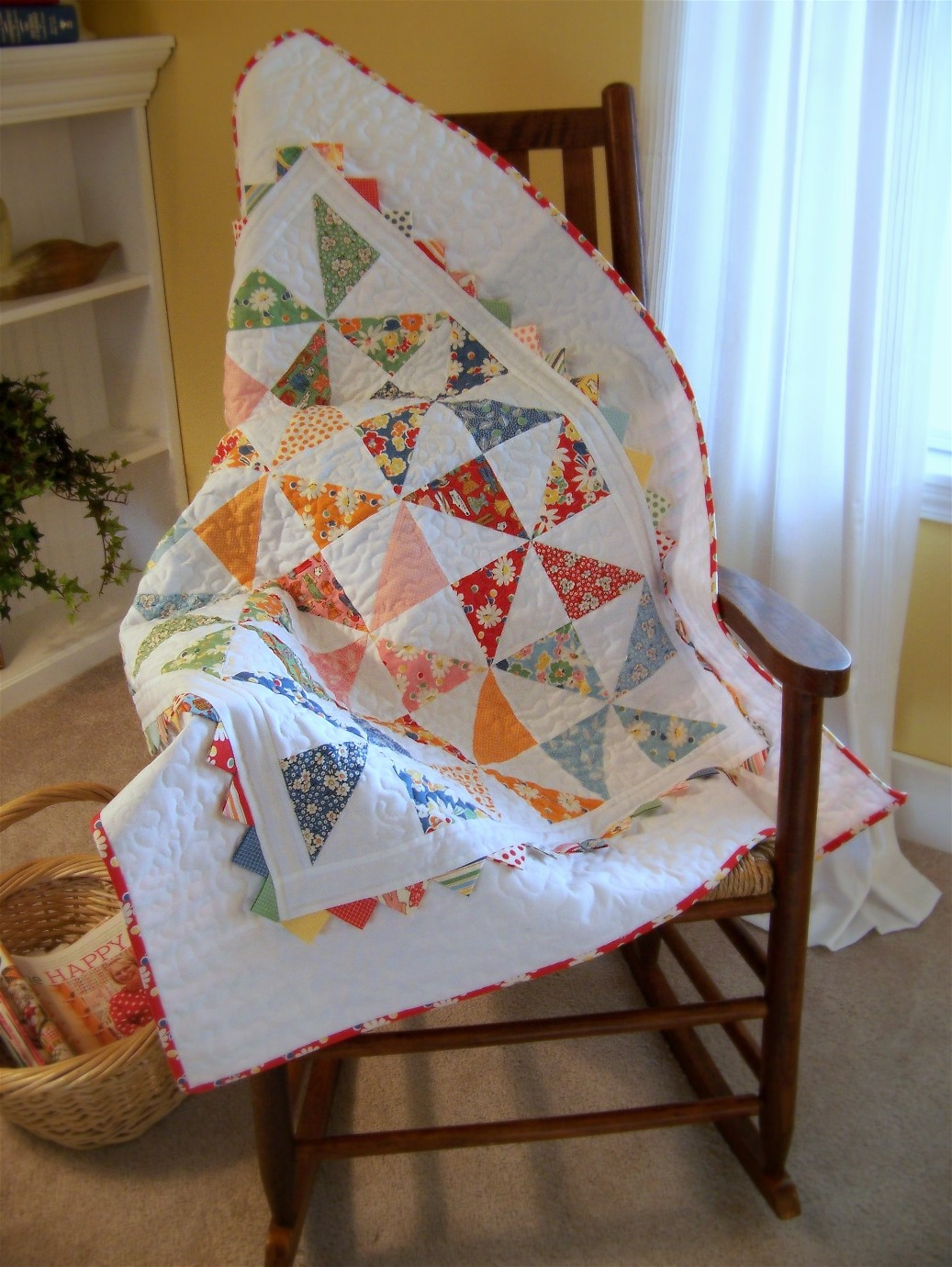 You head Moda three strip pinwheel quilt pattern