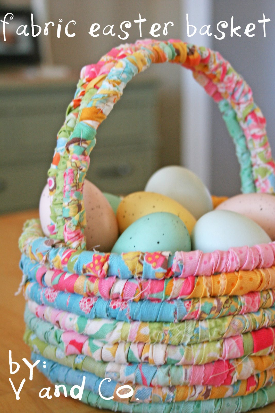 Fabric easter basket moda bake shop negle