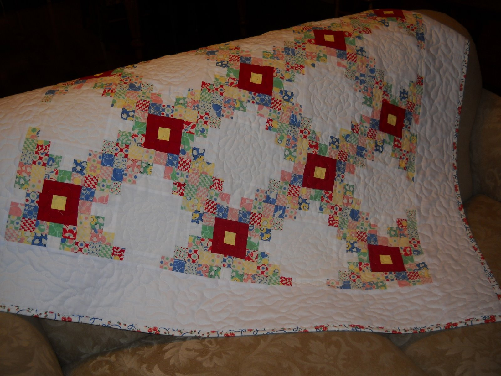 Irish Chain Quilt Pattern Simple Design Ideas