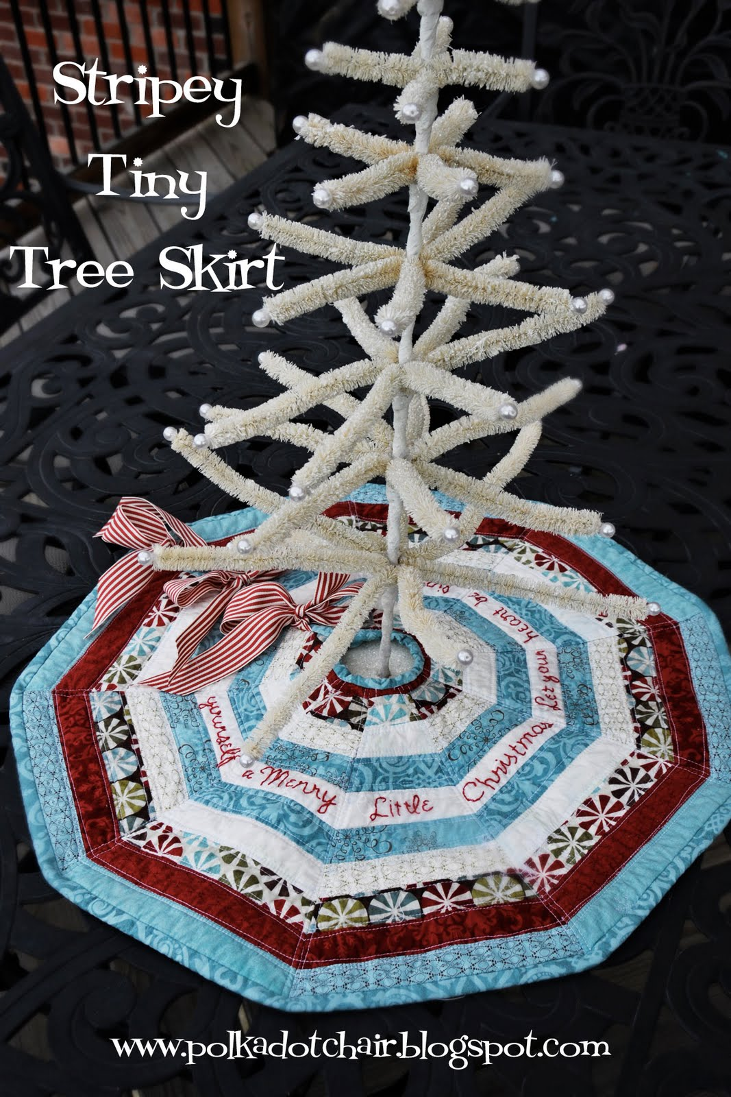 Stripey Skinny Seasonal Table Runner Stripey Tiny Tree Skirt