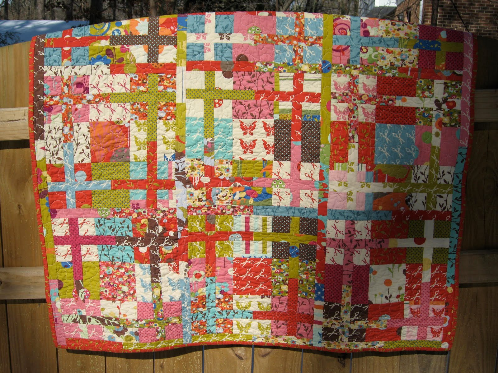 "Off the Grid"" Sliced Nine Patch Quilt Â« Moda Bake Shop : nine block quilt pattern - Adamdwight.com"