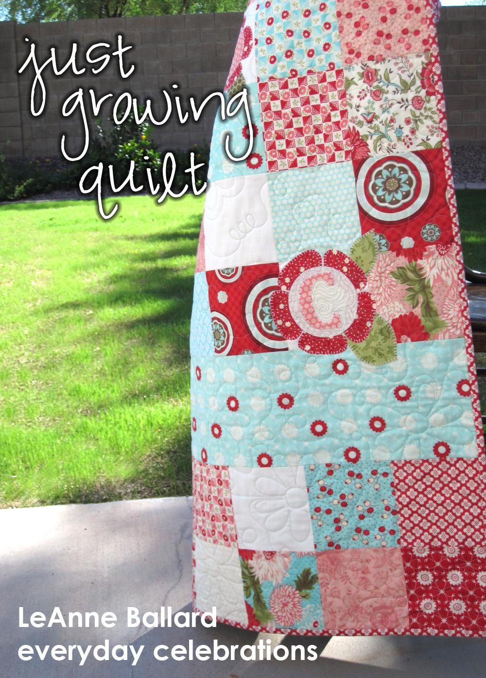 just growing quilt « moda bake shop