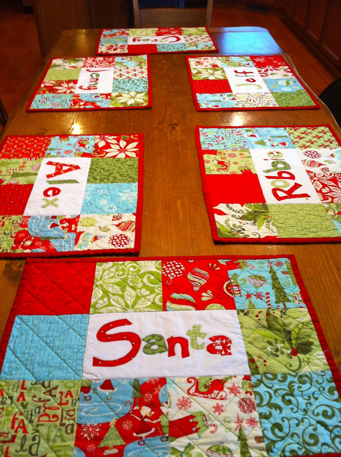Christmas Placemat Patterns Custom Ideas