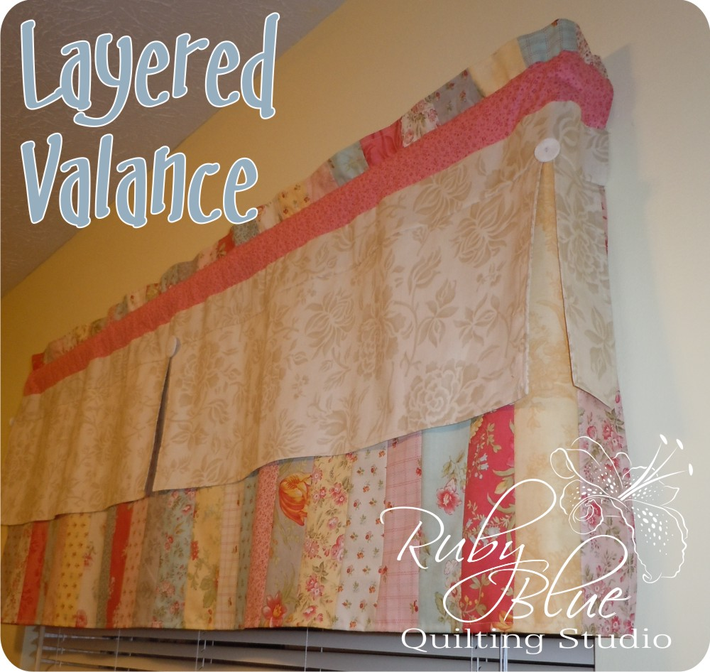 Layered Valance Â« Moda Bake Shop : quilted valances - Adamdwight.com