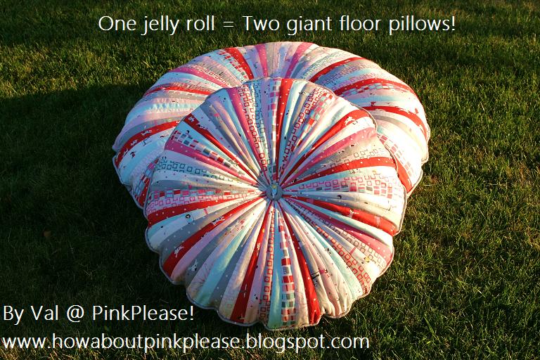 Jelly Roll Floor Pillows ? Moda Bake Shop
