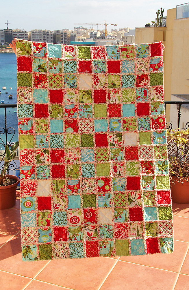 how to make a rag quilt with pictures
