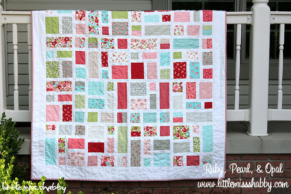 Ruby, Pearl, and Opal Quilt   Moda Bake Shop