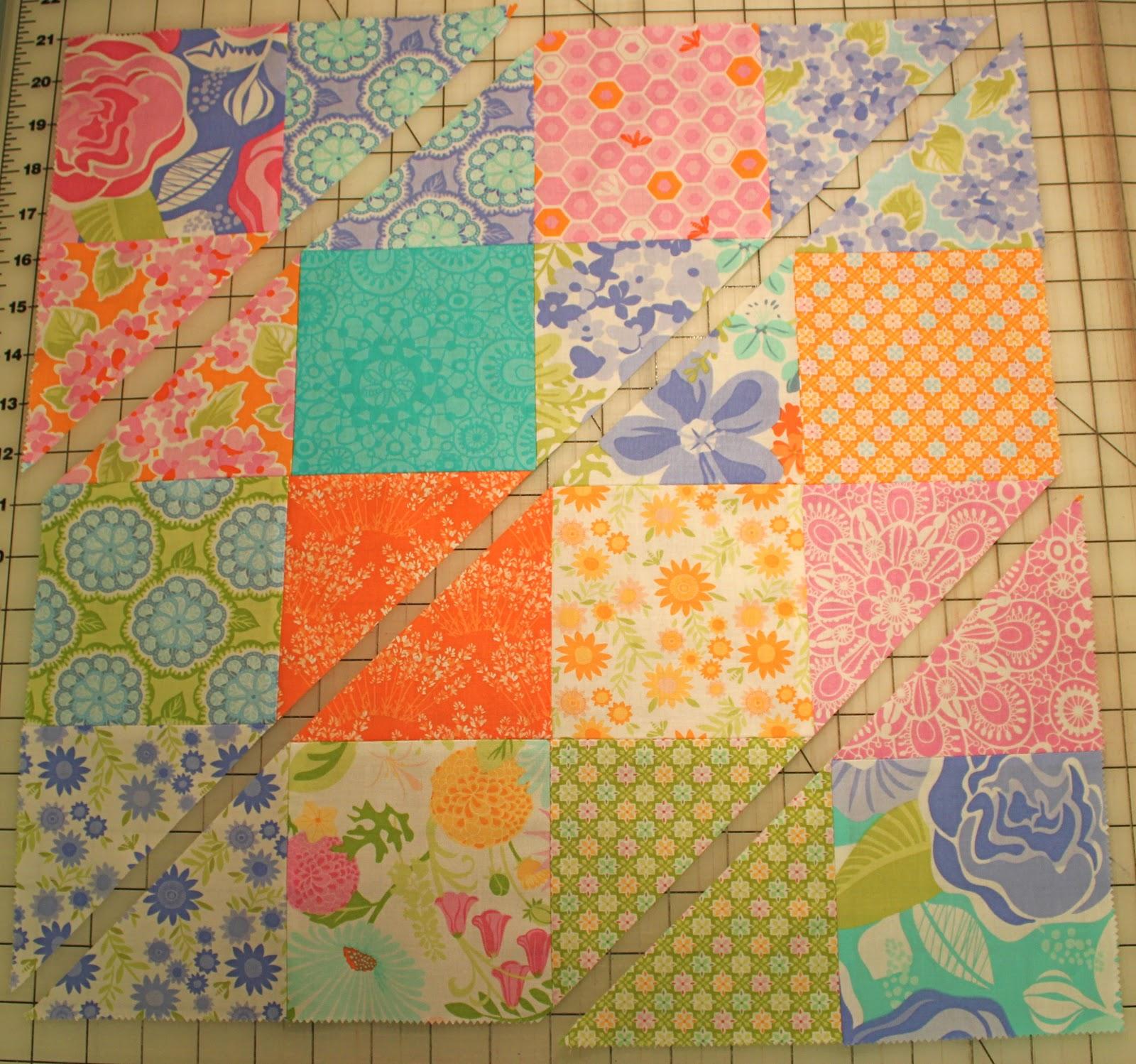 Strip and slash quilt