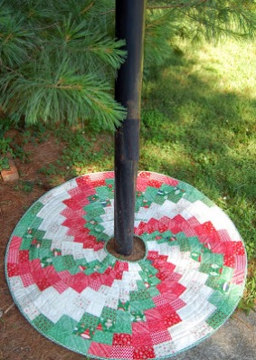 Peppermint Swirl Christmas Tree Skirt By Heather Kojan